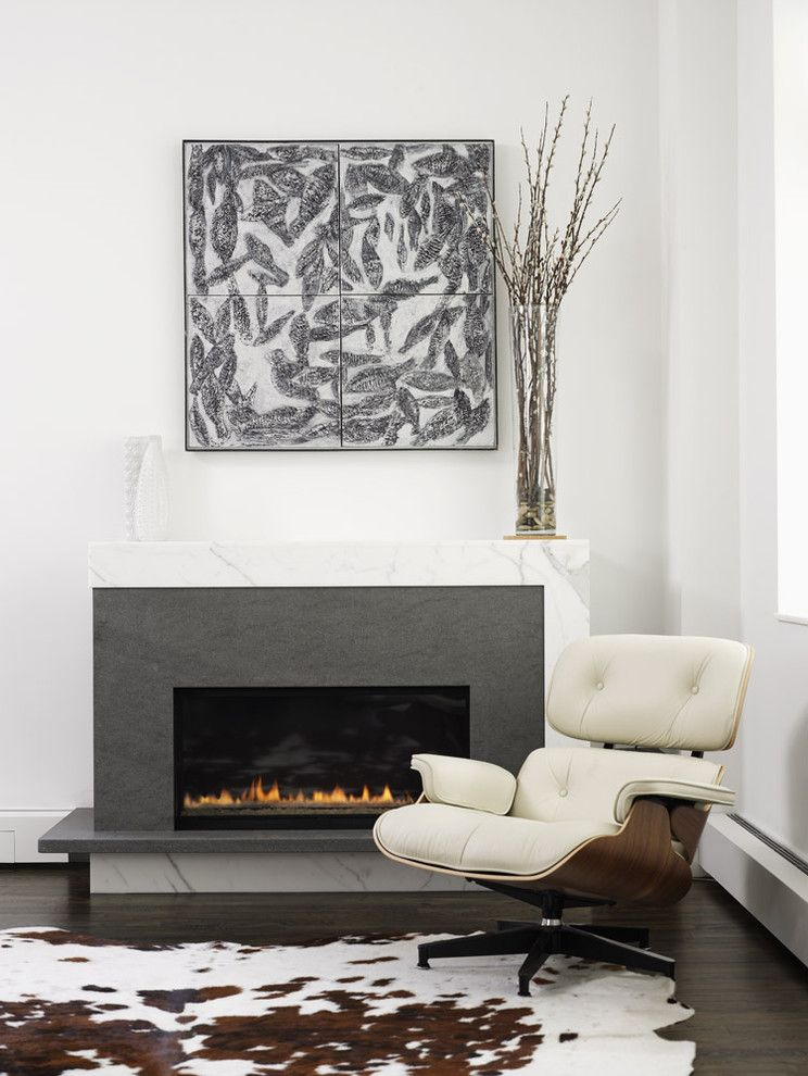 Fans Edge Promo Code for a Contemporary Living Room with a Carrera Marble and Ny Loft by Chelsea Atelier Architect, Pc
