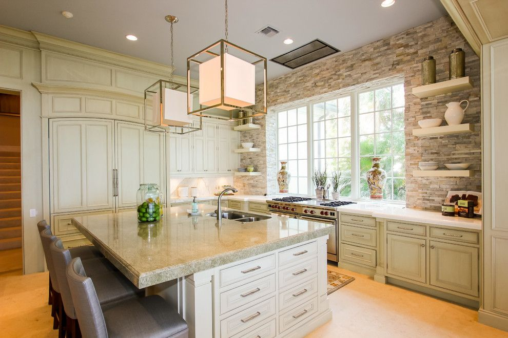 Fans Edge Promo Code for a Mediterranean Kitchen with a Integrated Kitchen and 750 South Ocean Blvd by Claremont Companies