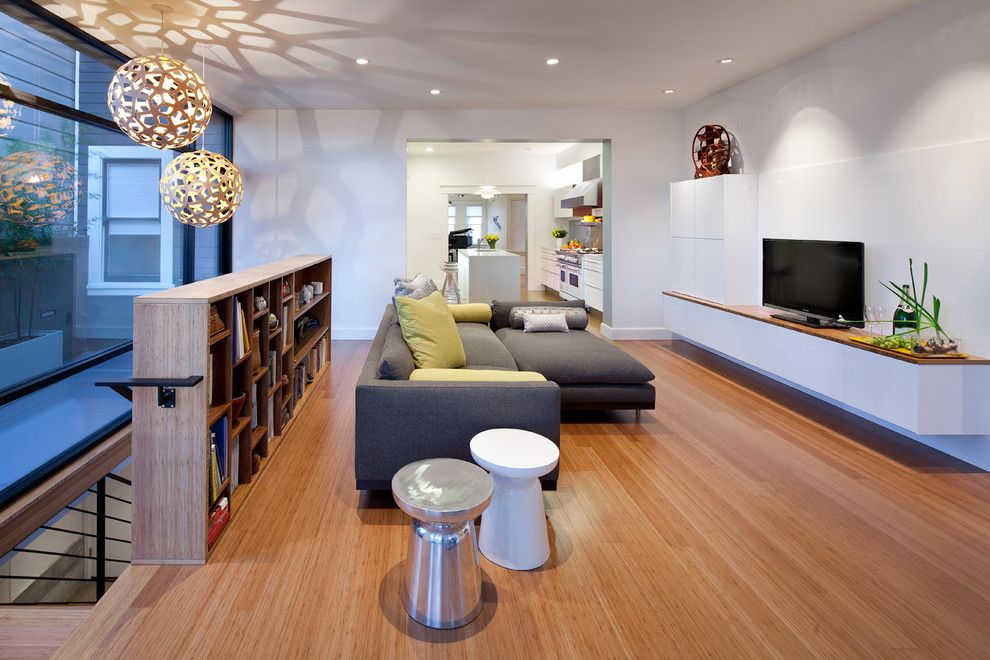 Fans Edge Promo Code for a Modern Family Room with a Recessed Lighting and Eddie House by Three Legged Pig Design