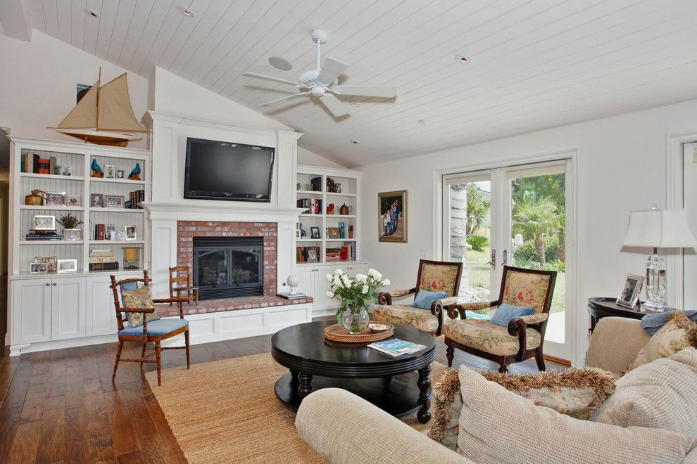 Fans Edge Promo Code for a Traditional Family Room with a White Painted Wood and Savvy Interiors by Savvy Interiors