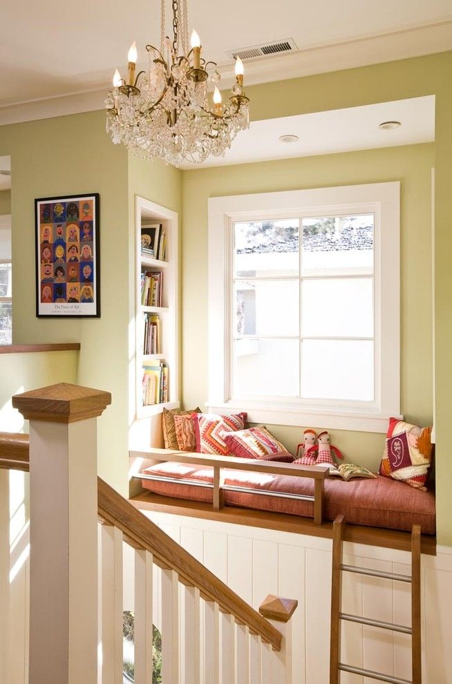 Fans Edge Promo Code for a Traditional Staircase with a Window Seat and Princeton Residence by Ana Williamson Architect