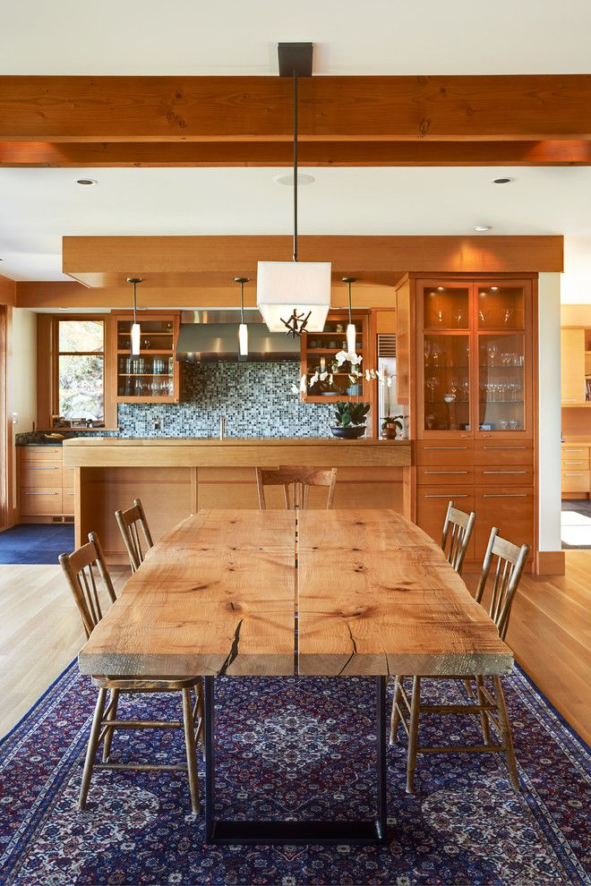 Farm Table Sf for a Contemporary Dining Room with a Dining Room and Live Edge Modern Country Home Tour by Live Edge Design