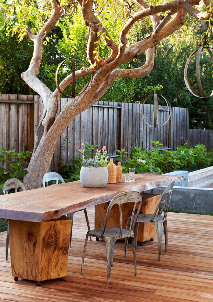 Farm Table Sf for a Contemporary Patio with a Wood and Gathering Table by Arterra Landscape Architects