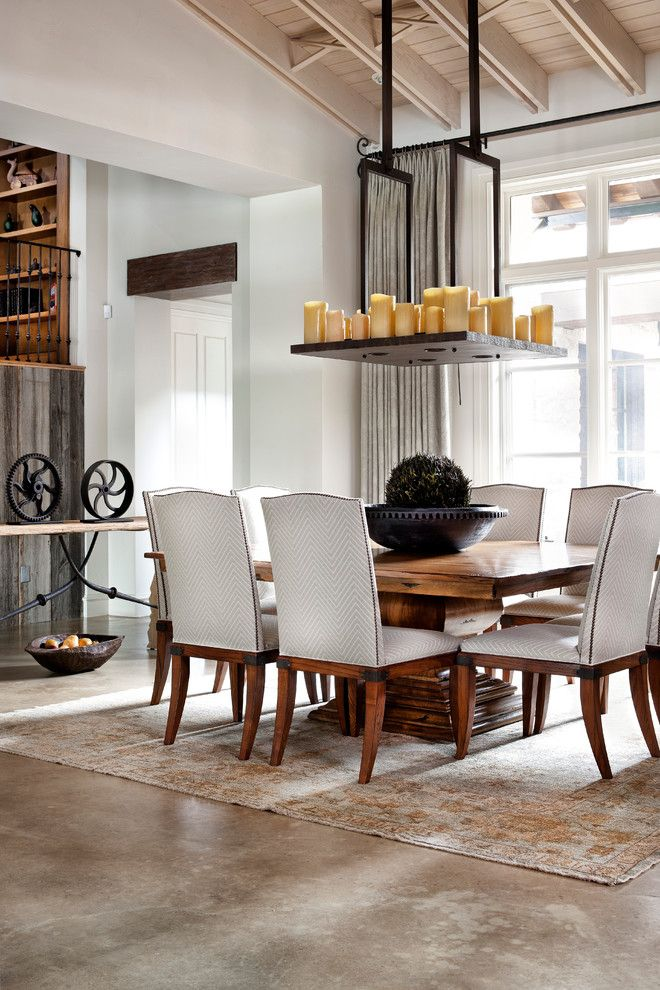 Farm Table Sf for a Traditional Dining Room with a Area Rug and Lake Austin by Luis Jauregui