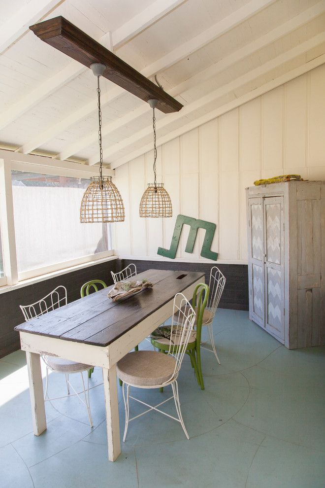 Farm Table Sf for a Traditional Dining Room with a Porch and Jennifer and Chris by Whitney Lyons