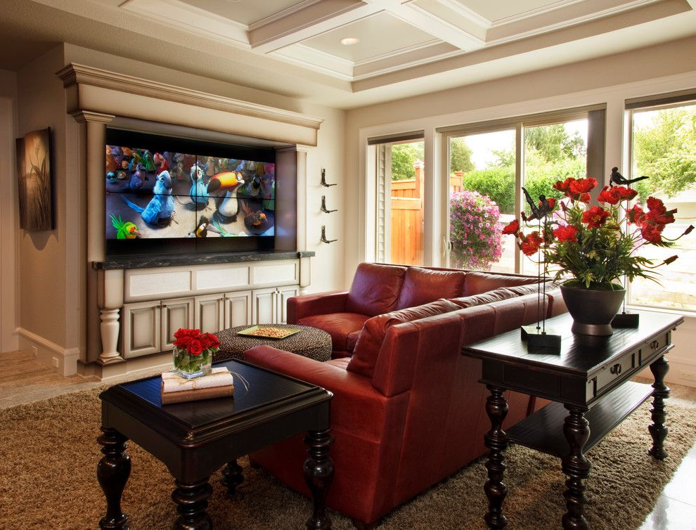 Farmgirl Flowers for a Traditional Family Room with a Large Windows and 2011 Street of Dreams (