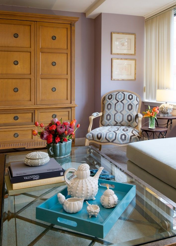 Farmgirl Flowers for a Transitional Living Room with a Pretty Roon and Dc Condo Living by Elizabeth Drake of Drake Interiors Limited