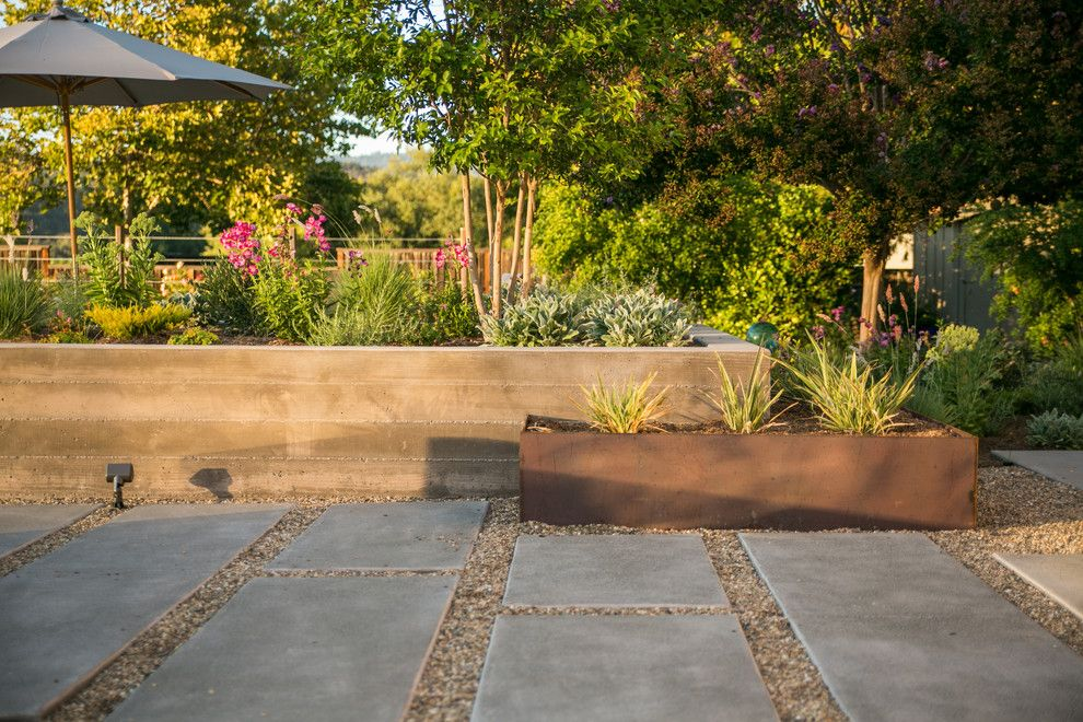 Farmstead St Helena for a Contemporary Landscape with a Corten Steel and St Helena by Envision Landscape Studio