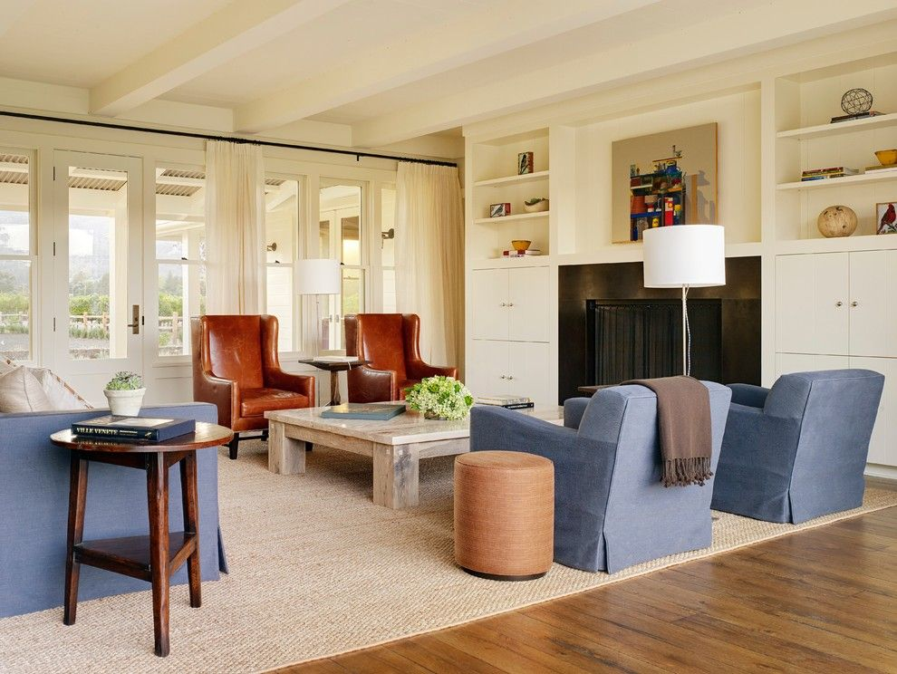 Farmstead St Helena for a Farmhouse Living Room with a Floor to Ceiling Windows and St. Helena Residence by Jennifer Robin Interiors