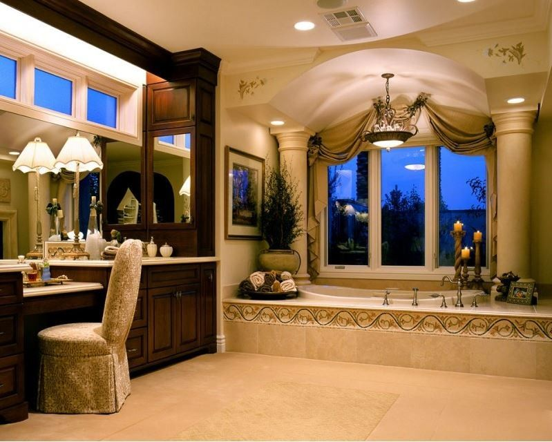 Fashion Outlets of Las Vegas for a Traditional Bathroom with a Upholstery and Private Custom Home Las Vegas by Diane Cabral Interiors