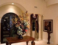 Fashion Outlets of Las Vegas for a Traditional Entry with a Designers Touch and Private Custom Home Las Vegas by Diane Cabral Interiors