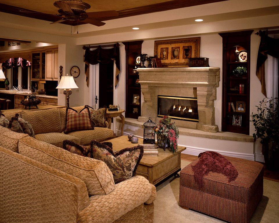 Fashion Outlets of Las Vegas for a Traditional Living Room with a Designer Fabrics and Private Custom Home Las Vegas by Diane Cabral Interiors