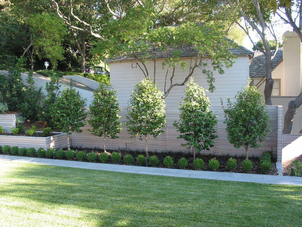 Fenceworks for a Contemporary Landscape with a Planter and Piedmont by Randy Thueme Design Inc.   Landscape Architecture