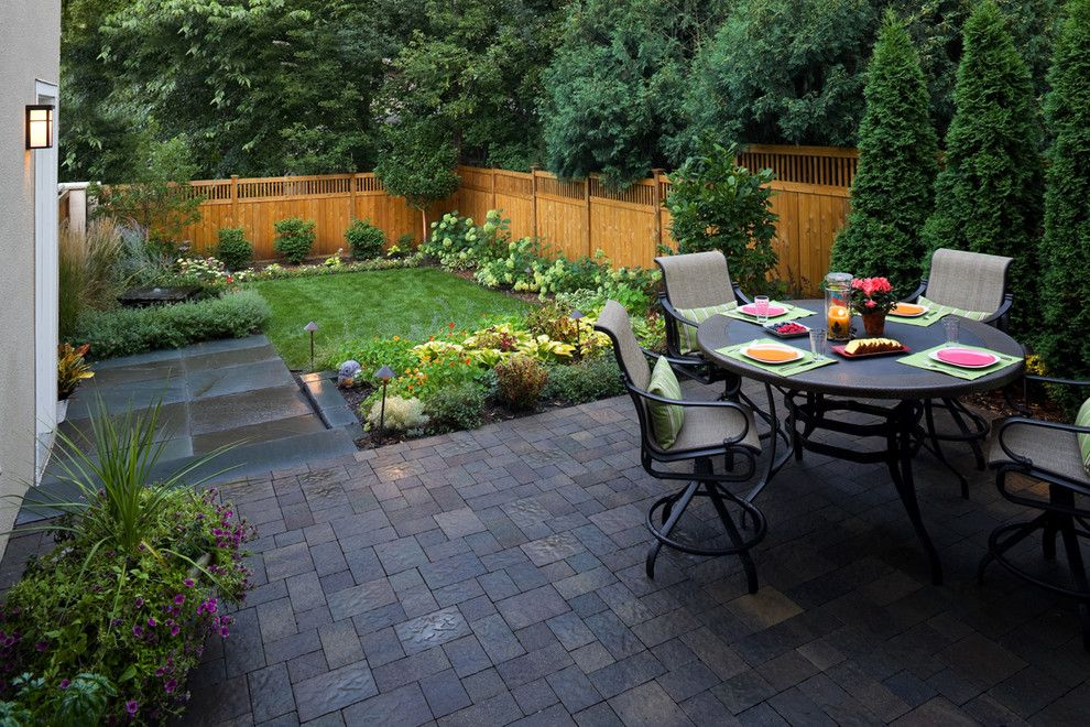Fenceworks for a Contemporary Patio with a Small Urban Yard and Beautiful Small Landscape by Southview Design