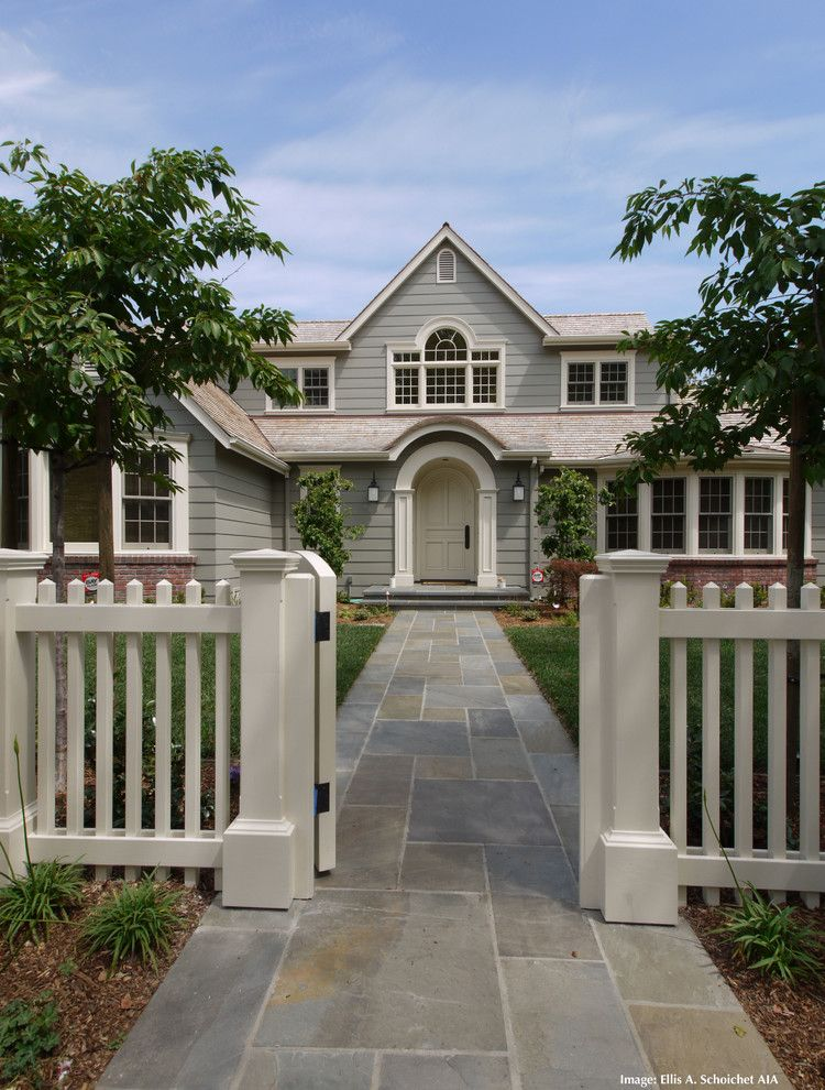 Fenceworks for a Traditional Exterior with a Picket Fence and Additions and Remodel in Palo Alto Ca by Easa Architecture