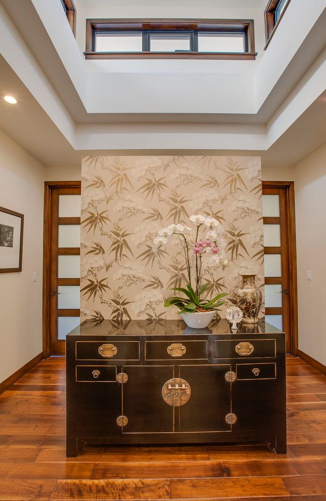 Feng Shui Front Door for a Asian Entry with a Historic Preservation and Feng Shui House by David Watson Architects