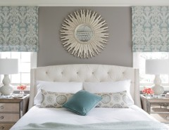Feng Shui Front Door for a Transitional Bedroom with a Blue and Refined Beauty Brookhaven by Minhnuyet Hardy Interiors
