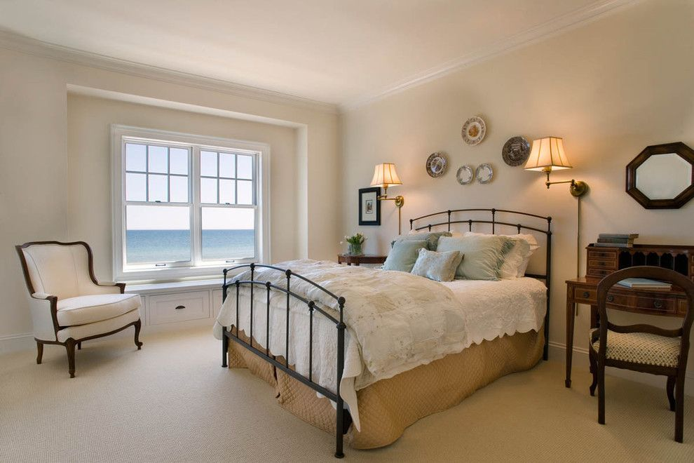 Fenton House Fenton Mi for a Beach Style Bedroom with a Bed Quilt and the Redfield Home by Mitch Wise Design,Inc.