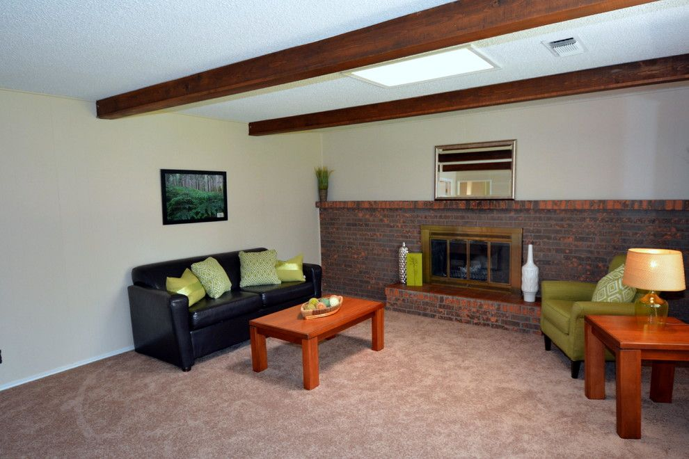 Fenway Park Map for a Traditional Family Room with a Holiday Park and New Holiday Park Updated Brick Ranch Home Staging Photos by Map Consultants, Llc