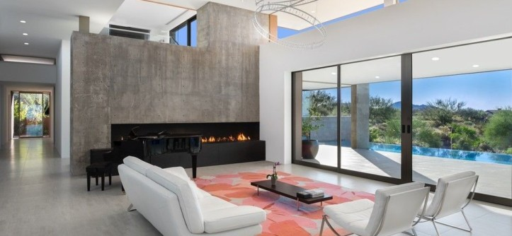 Ferguson Heating and Cooling for a Contemporary Living Room with a White Sofa and Kim Residence by Tate Studio Architects