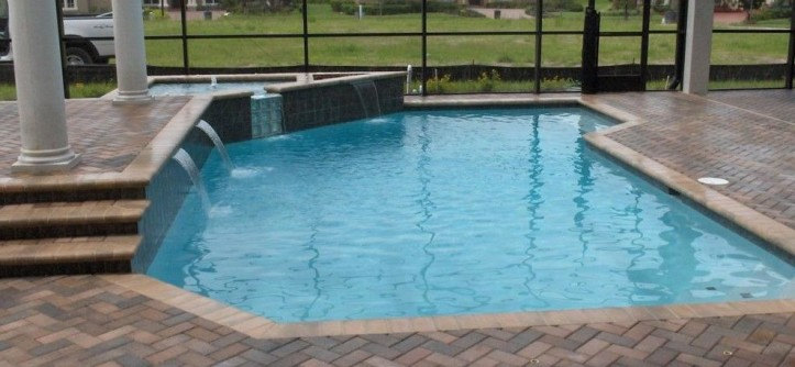 Ferrari of Tampa Bay for a  Pool with a Indoor Outdoor Living and Our Work by Pegasus Pools of Tampa Bay, Inc