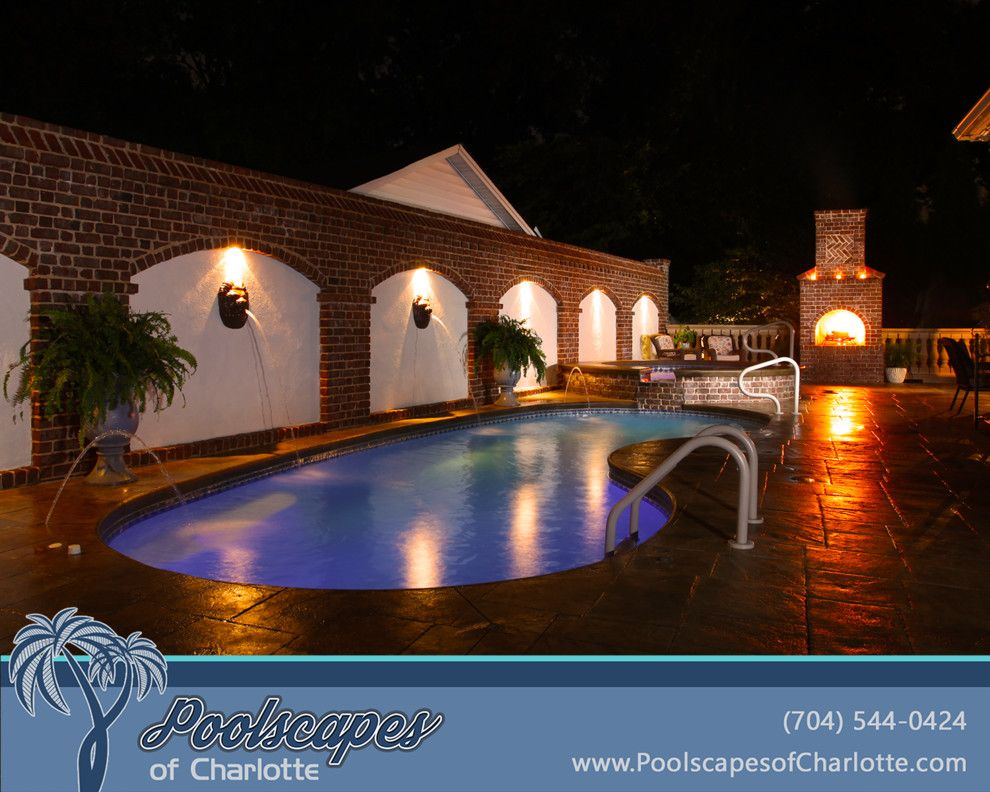 Fiberglass Specialties for a Traditional Pool with a Inground Pool and Traditional Swimming Pools by Poolscapes of Charlotte