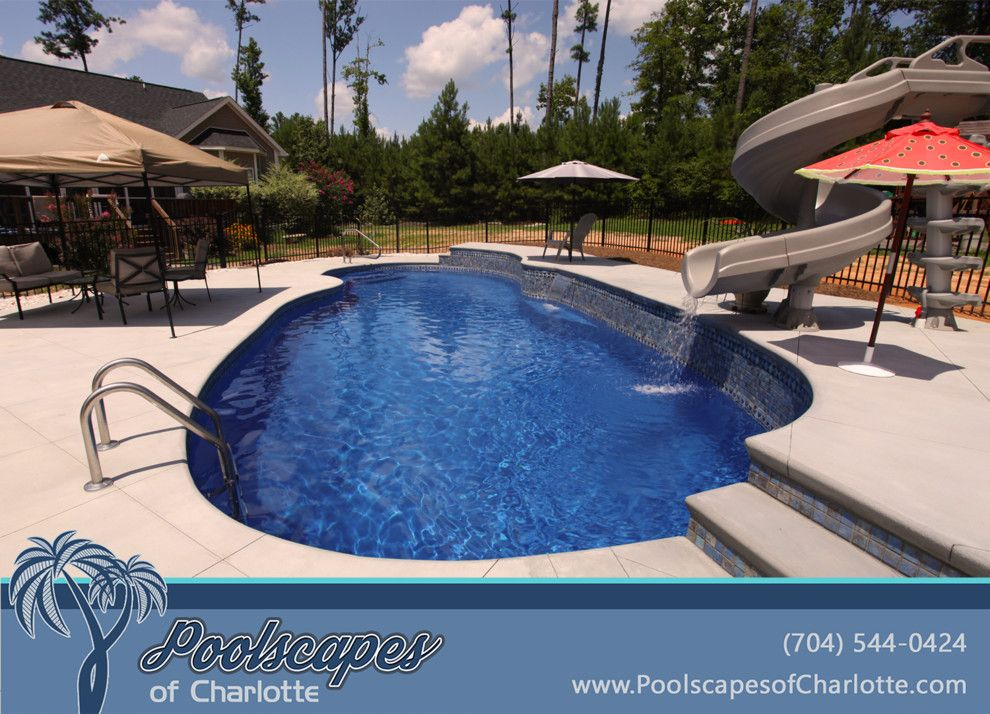 Fiberglass Specialties for a Traditional Pool with a Swimming Pool and Traditional Swimming Pools by Poolscapes of Charlotte