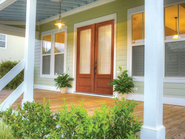 Fiberglass Specialties for a Traditional Porch with a Wood Porch and Exterior Doors by Elevations | Design Solutions by Myers