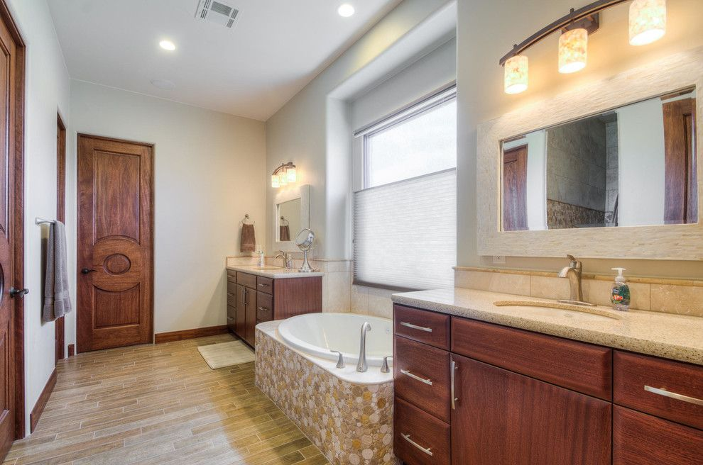 Firerock for a Modern Bathroom with a Modern and Stone Cliff #401 by Firerock Custom Homes