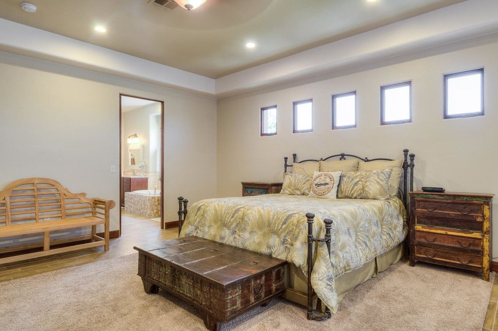 Firerock for a Rustic Bedroom with a Rustic and Stone Cliff #401 by Firerock Custom Homes