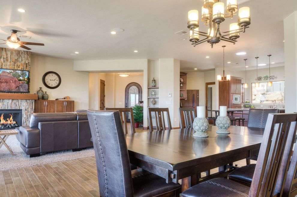 Firerock for a Southwestern Dining Room with a Southwestern and Stone Cliff #401 by Firerock Custom Homes