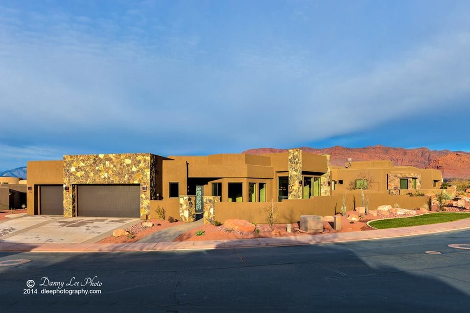 Firerock for a Southwestern Exterior with a Southwestern and the Cliffs #177 by Firerock Custom Homes