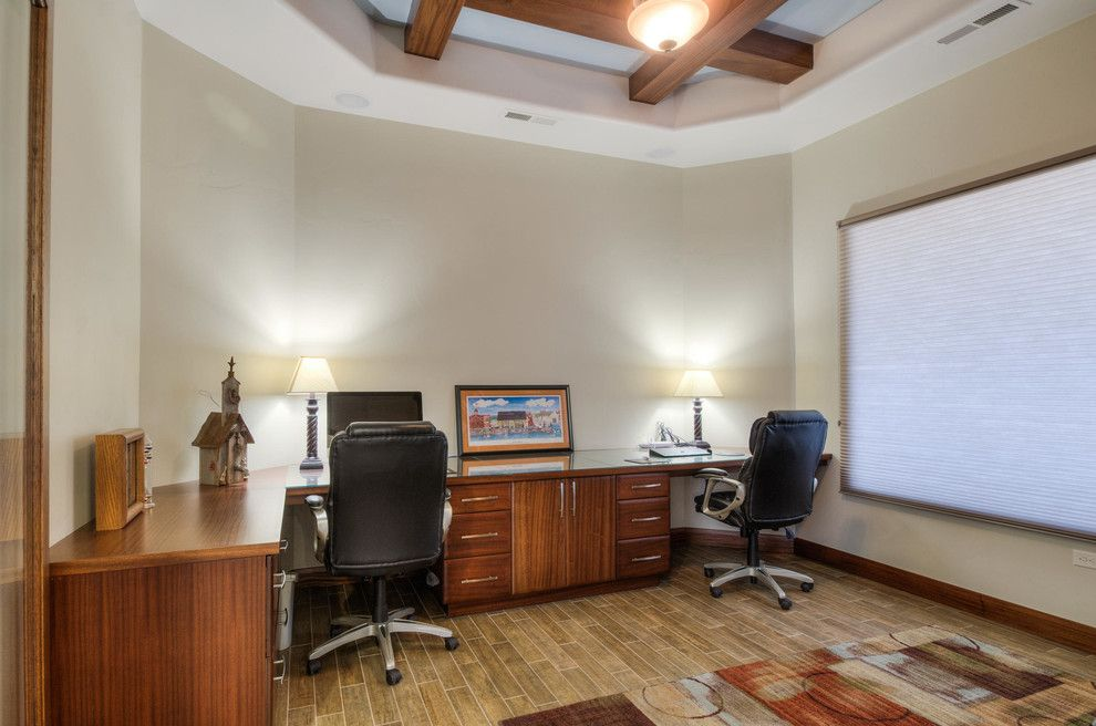 Firerock for a Traditional Home Office with a Traditional and Stone Cliff #401 by Firerock Custom Homes