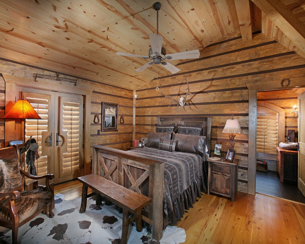 Fireside Furniture for a Rustic Bedroom with a Rustic and Wild Turkey Lodge Bedrooms by Michael Grant