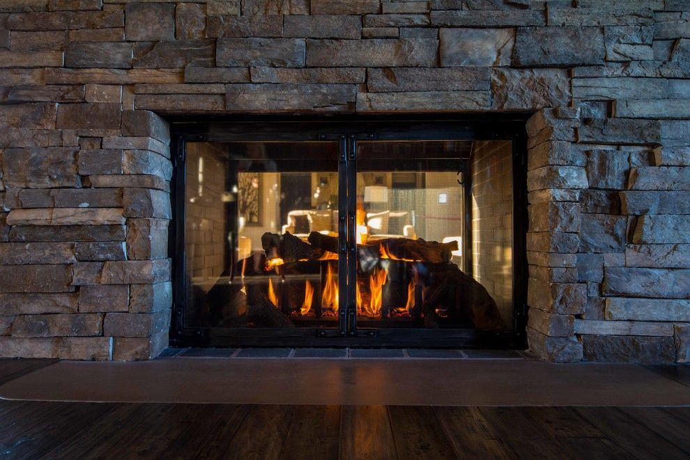Fireside Portland for a Contemporary Living Room with a Modern Fireplace Doors and Glass Fireplace Doors & Gas Logs or Fire Features by Fireside Home Solutions