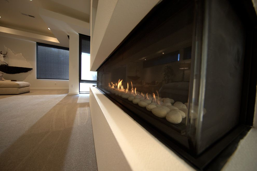 Fireside Portland for a Modern Living Room with a Gas Fireplaces and Ortal 200ts   Master Bedroom by Fireside Home Solutions