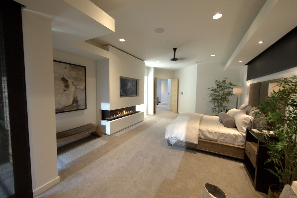Fireside Portland for a Modern Living Room with a Modern Fireplace and Master Bedroom   Ortal 200ts by Fireside Home Solutions