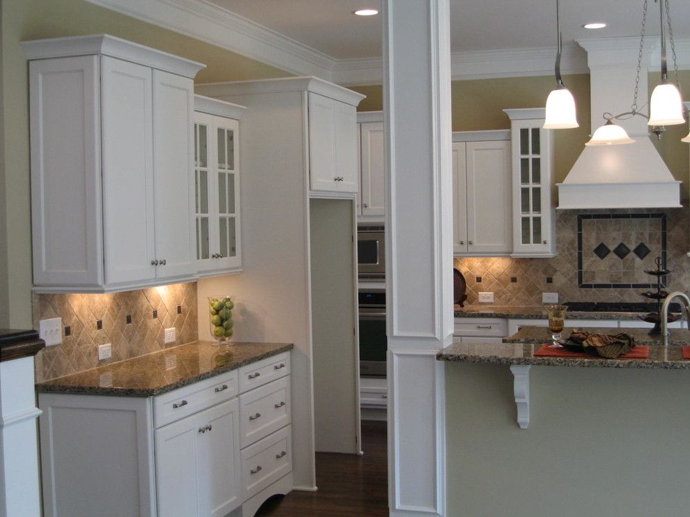 Firestone Cary Nc for a Traditional Kitchen with a White Maple Cabinets and #45 Cary, Nc Design for New Home Construction by Kim Johnson Interiors