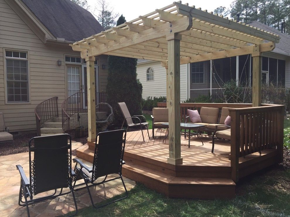 Firestone Raleigh Nc for a Traditional Spaces with a Design and Deck with Pergola in Raleigh, Nc by Archadeck of Raleigh Durham