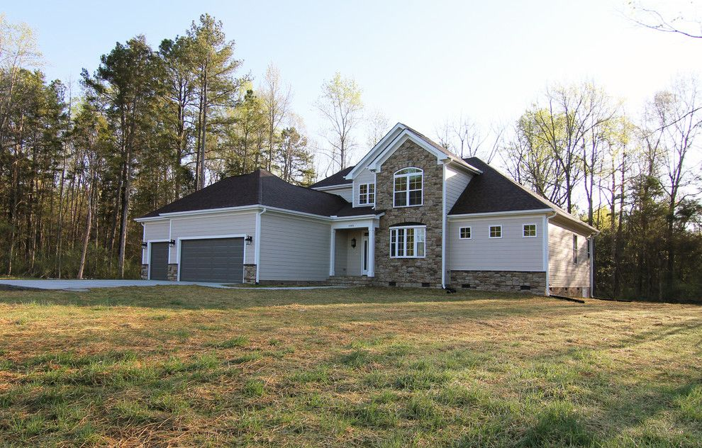 Firestone Raleigh Nc for a Transitional Exterior with a Open Floor Plan and Raleigh Nc Custom Home Plan by Stanton Homes