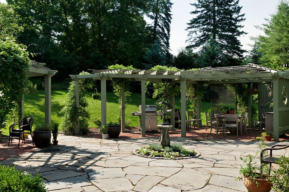 Flatstock for a Farmhouse Patio with a Hanging Plants and Crisp Architects by Crisp Architects