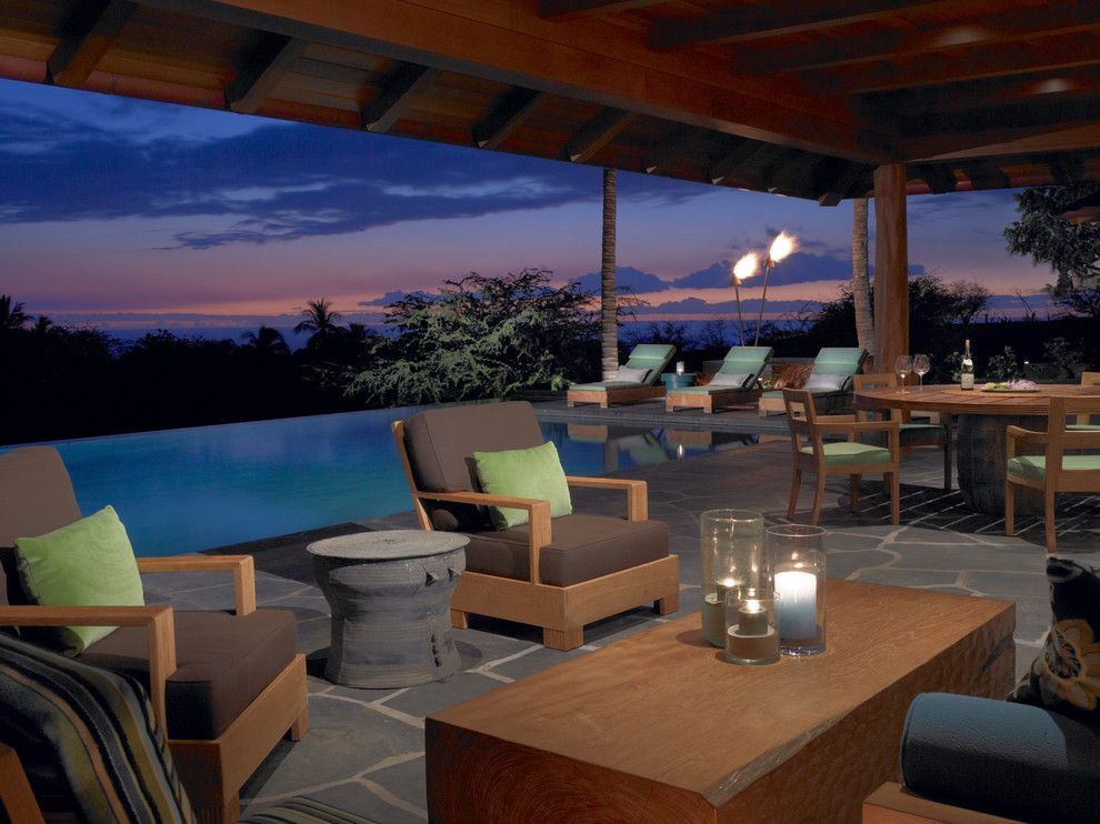 Flatstock for a Tropical Patio with a Pavers and Hawaii by Dara Rosenfeld Design