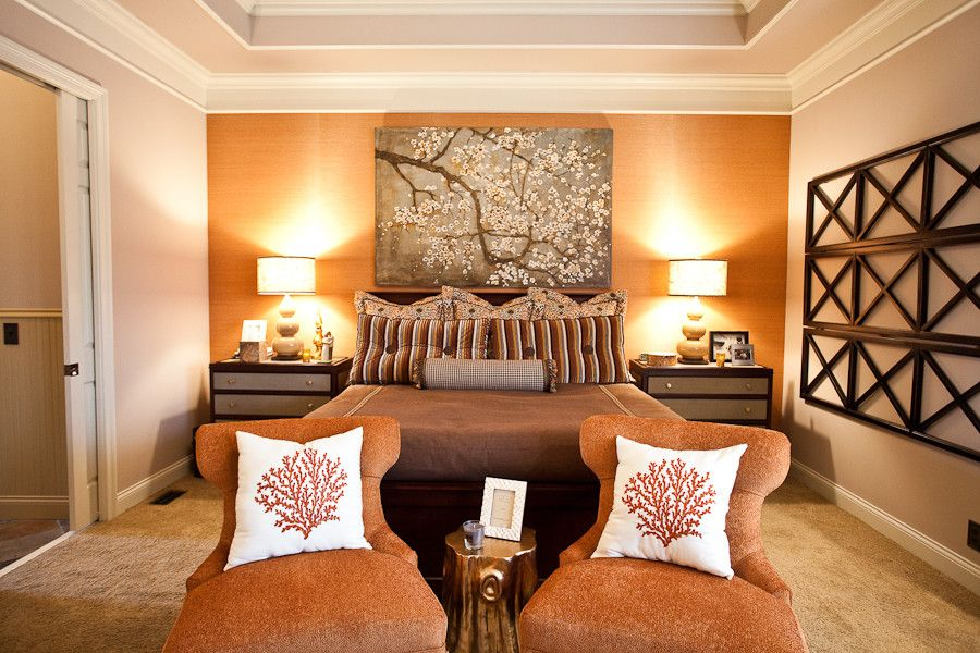 Ford Franklin Tn for a Eclectic Bedroom with a Wallpaper and Ayershire Circle Master Retreat   Franklin by Eric Ross Interiors, Llc