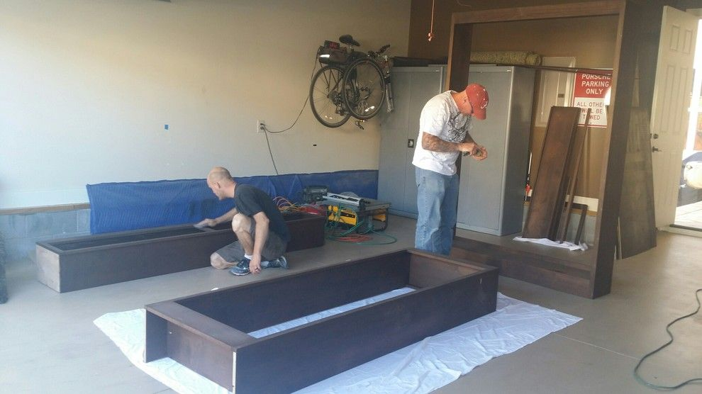 Ford Franklin Tn for a Traditional Spaces with a Stain Grade Bookcase and Franklin Tn. Couch Bookcase by All Pro Finish Carpentry