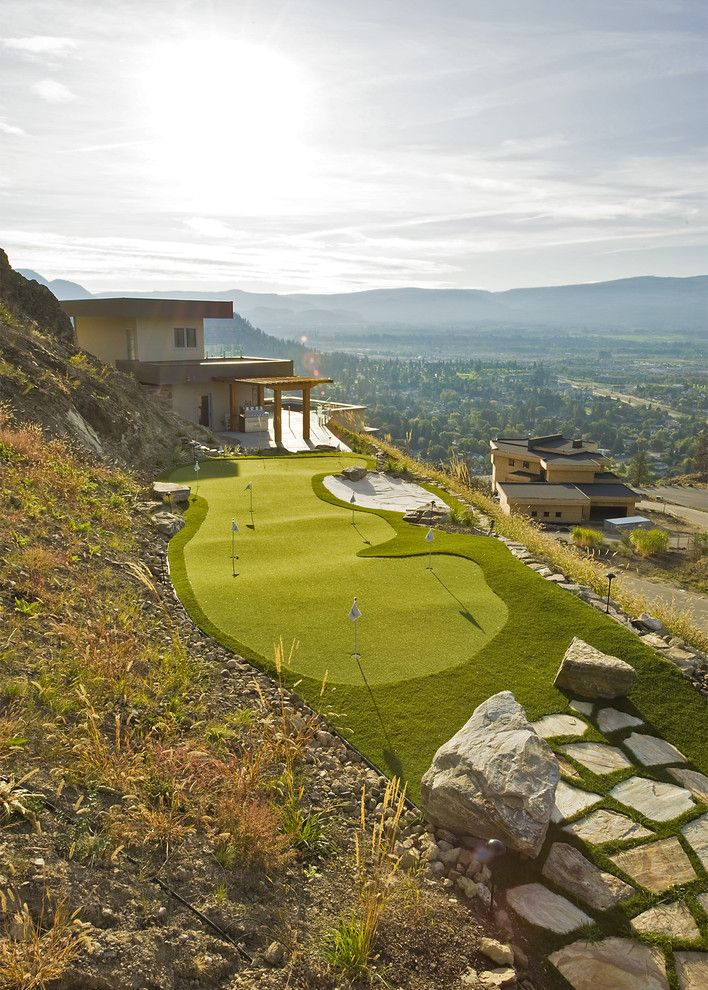 Fox Hills Golf Course for a Modern Landscape with a Modern and Putting Green by Begrand Fast Design Inc.