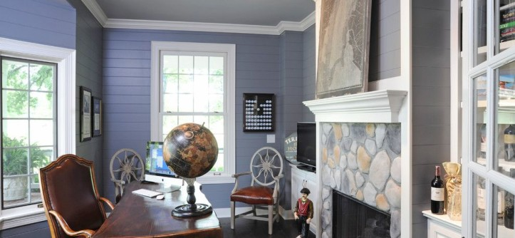 Fox Hills Golf Course for a Traditional Home Office with a Mantel and a Whole House Transformation by Dave Fox Design Build Remodelers
