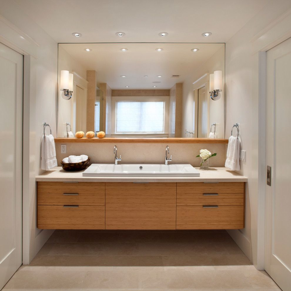 Free Blueprint Maker for a Contemporary Bathroom with a Double Vanity and Modern Classic by Sullivan Design Studio