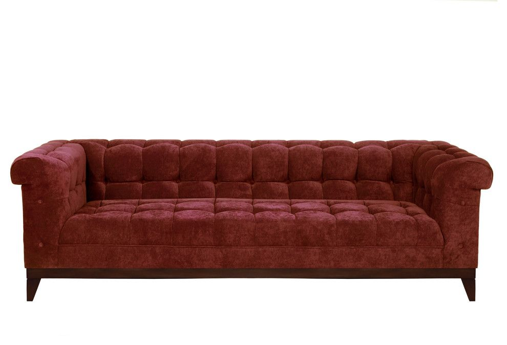 Free Shipping Crate and Barrel for a Contemporary Living Room with a Chenille Sofa and Sofa Styles by Your Space Furniture   Custom Upholstered Sofas