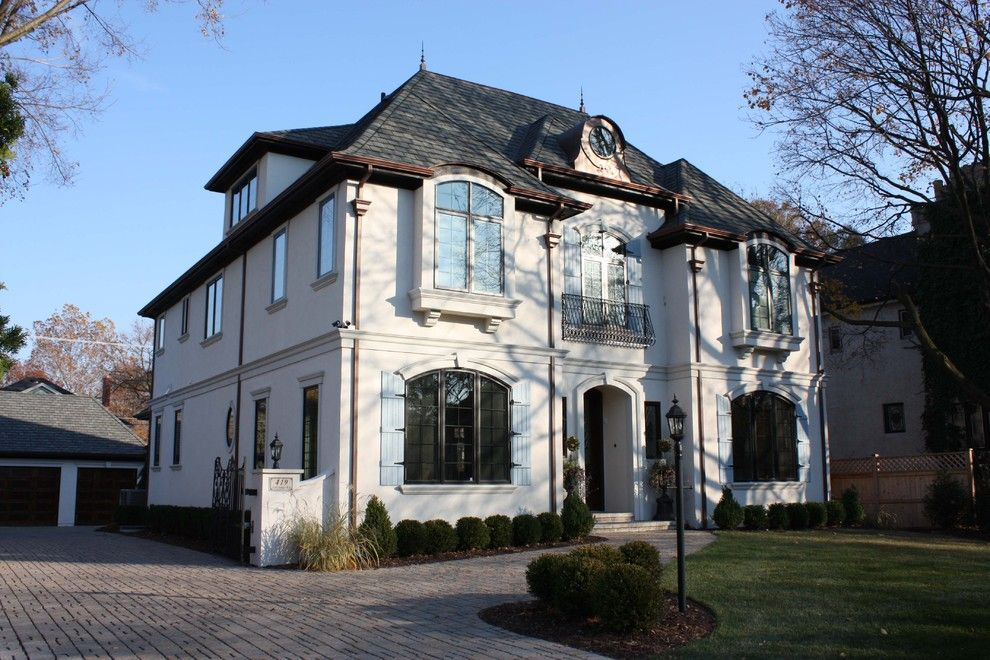 French Chateau for a Traditional Exterior with a Entrance and Historic Lagrange Home by Derrick Architecture