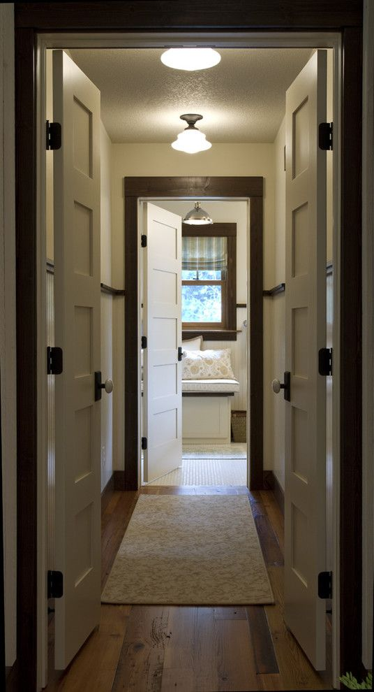Friv4 School for a Traditional Hall with a Flat Panel Door and Crosslake by Michelle Fries, Bede Design, Llc